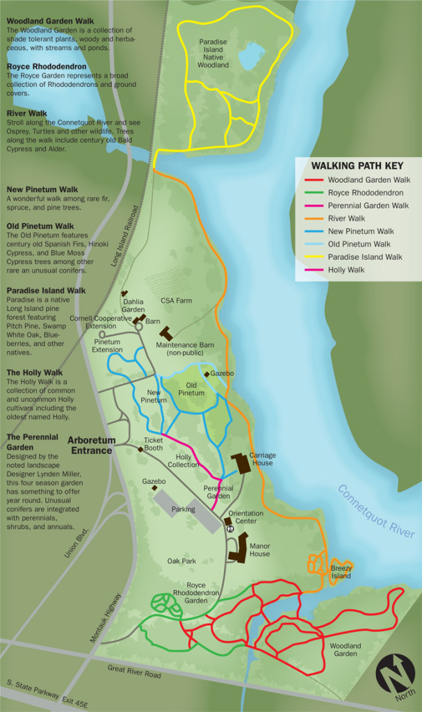 Bayard Cutting Arboretum Trail map