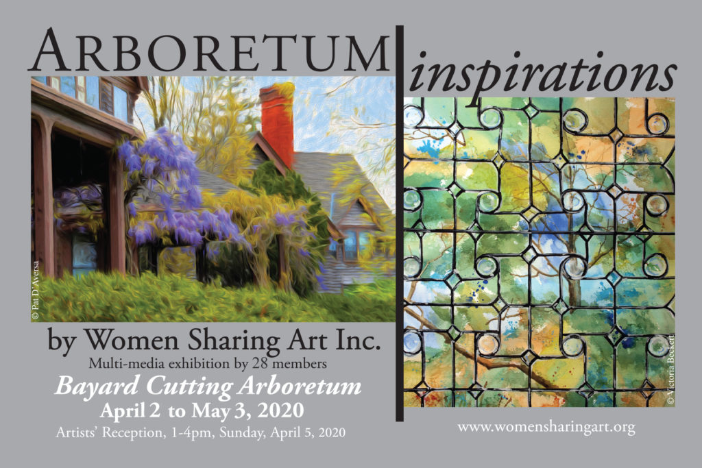 Women Sharing Art Arboretum Inspiration Exhibition Flyer