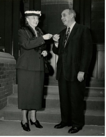 Photograph of Olivia Bayard Cutting and Robert Moses, President of the New York State Council of Parks.